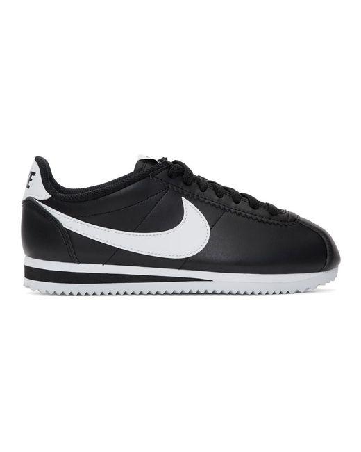 Nike ブラック And ホワイト クラシック コルテッツ スニーカー Black