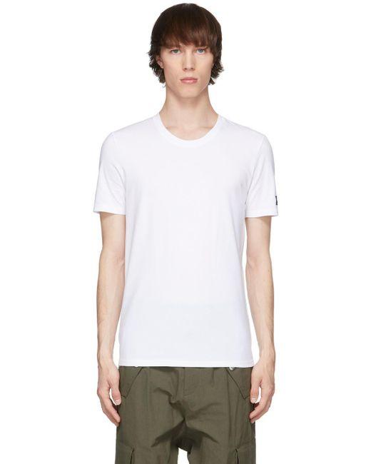 メンズ Balmain ホワイト クルーネック T シャツ White