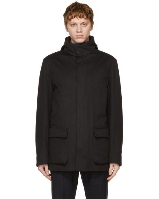メンズ Loro Piana ブラック カシミア Winter Voyager ジャケット Black