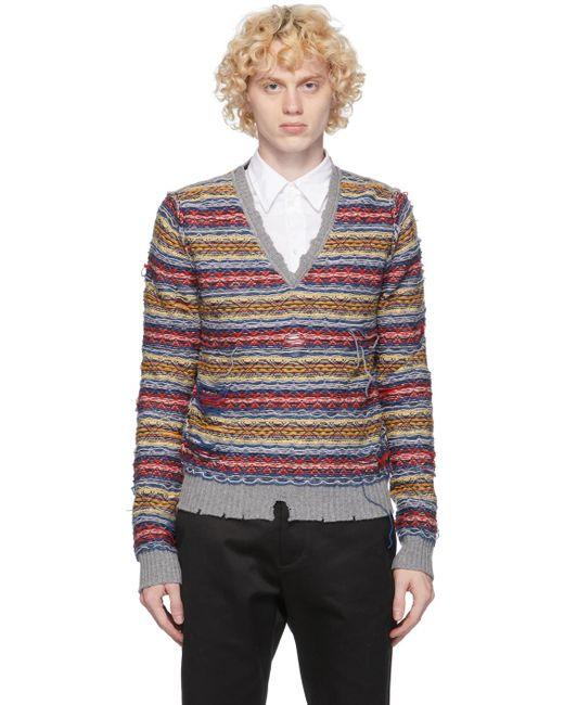 メンズ Maison Margiela マルチカラー リバース フェアアイル セーター Multicolor