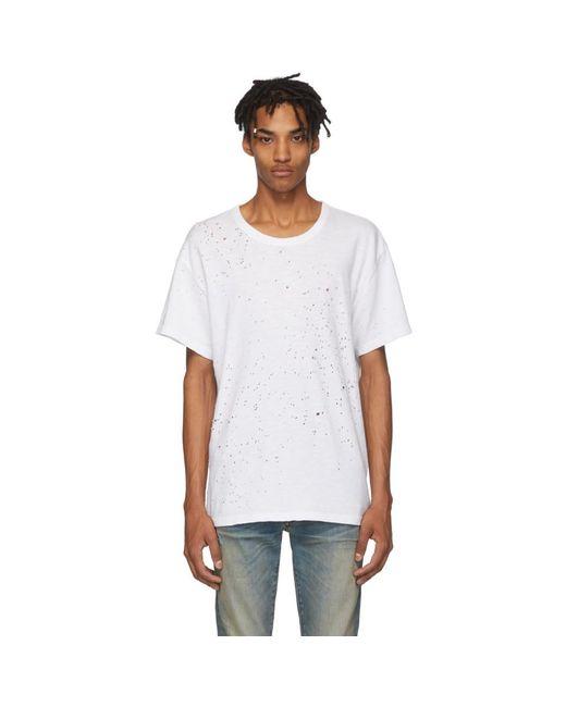 メンズ Amiri ホワイト Shotgun T シャツ White