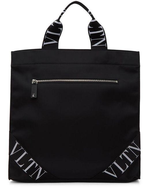 メンズ Valentino Garavani コレクション ブラック Vltn トート バッグ Black