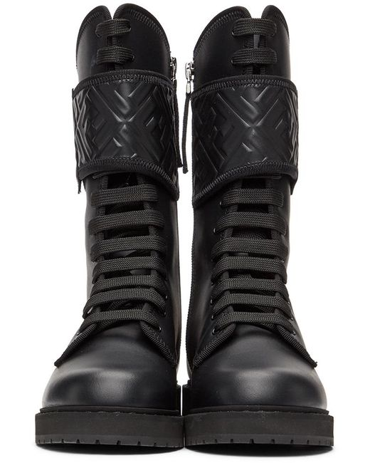 Fendi ブラック Forever Rockoko バイカー ブーツ Black