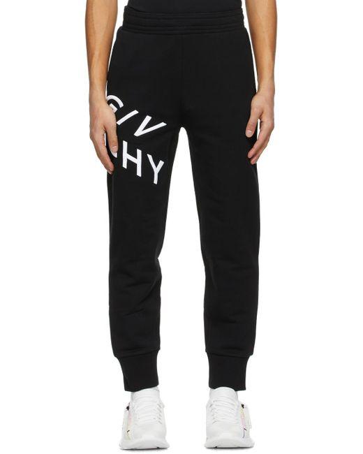 メンズ Givenchy ブラック Refracted ロゴ スウェットパンツ Black