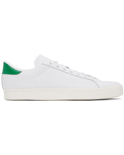 メンズ Adidas Originals ホワイト & グリーン Rod Laver Vintage スニーカー White