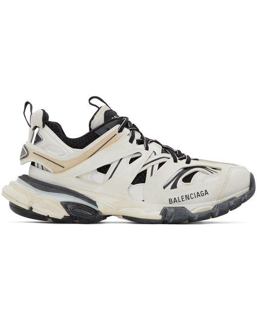 メンズ Balenciaga ホワイト & ブラック Track スニーカー Multicolor