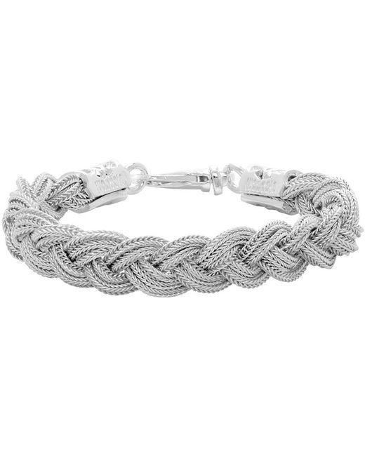 Bracelet tressé blanc Emanuele Bicocchi pour homme en coloris White