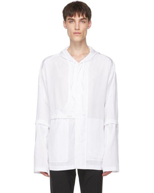 メンズ HELIOT EMIL ホワイト シャツ ジャケット White