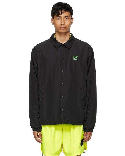 メンズ we11done ブラック ロゴ ウインドブレーカー ジャケット Black