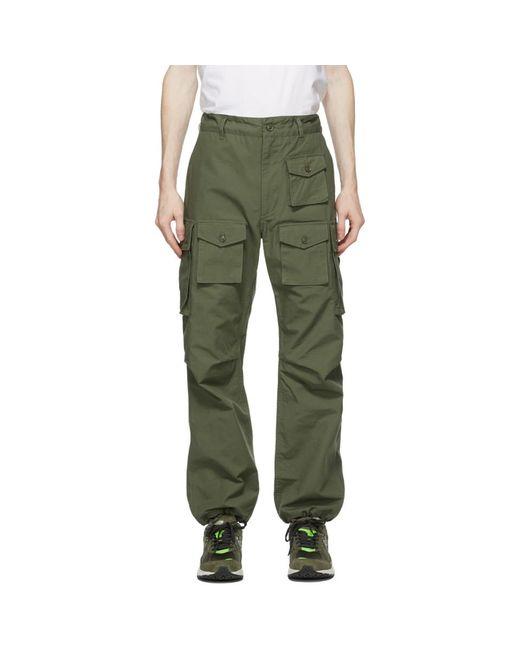 メンズ Engineered Garments グリーン カーゴ パンツ Green