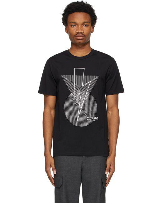メンズ Neil Barrett ブラック Bauhaus Bolt T シャツ Black