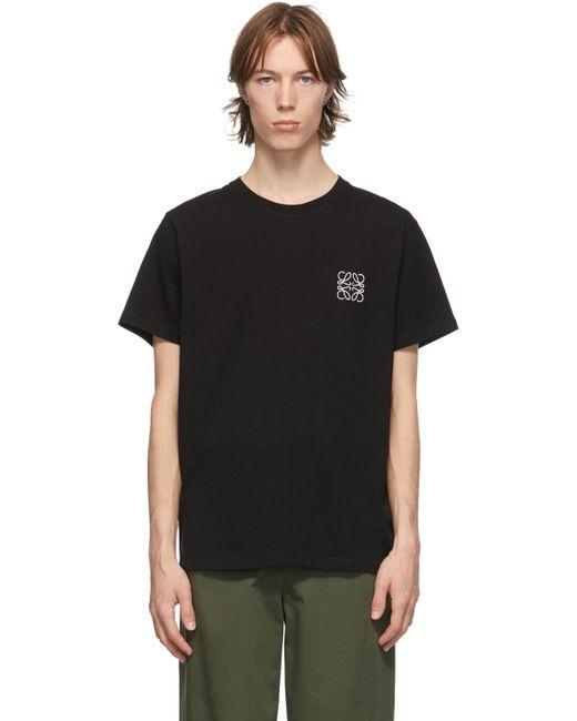 メンズ Loewe ブラック & ホワイト Anagram T シャツ Black