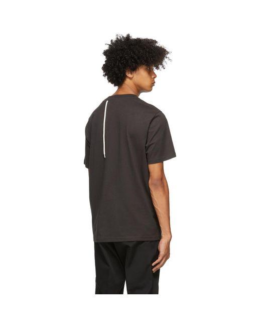 メンズ Craig Green ブラック Laced T シャツ Black