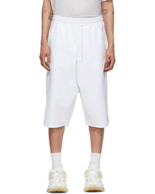 メンズ we11done ホワイト ショーツ White