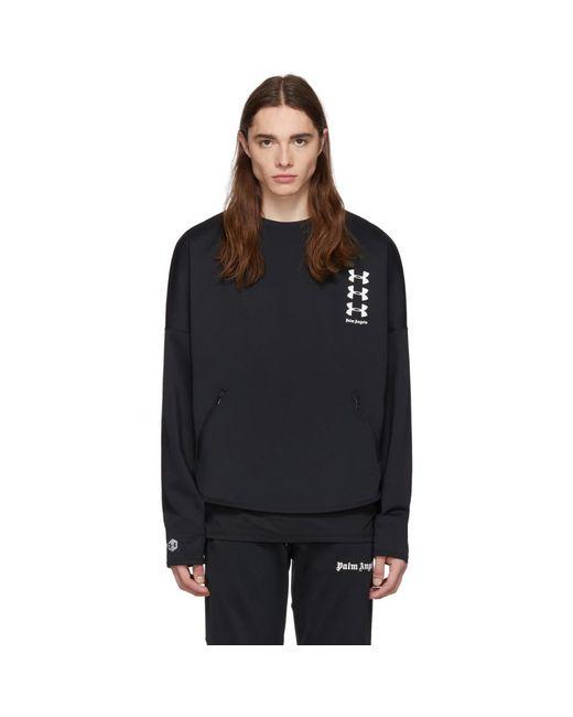 メンズ Palm Angels Under Armour Edition ブラック ルース スウェットシャツ Black