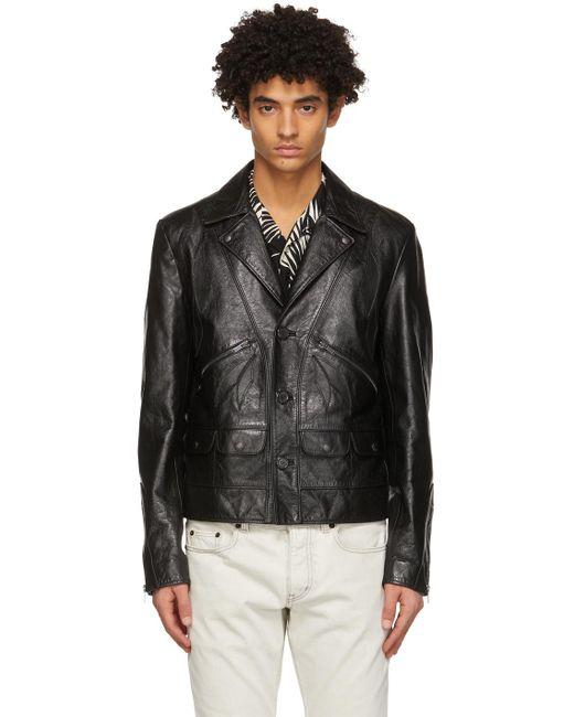 メンズ Saint Laurent ブラック Application ジャケット Black