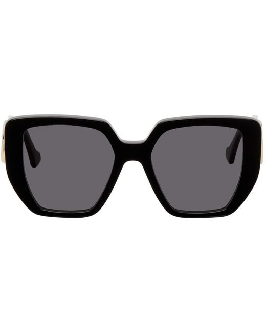 Gucci Generation Oversize Geometric Square サングラス Black