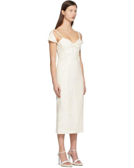 Jacquemus ホワイト La Robe Tovallo ドレス White