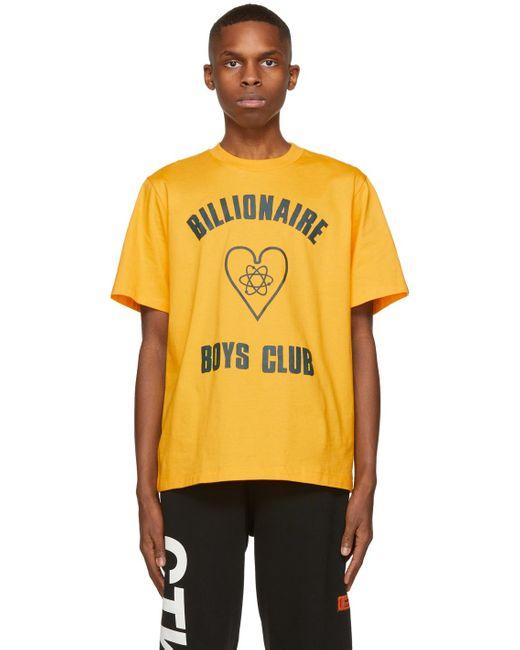 メンズ BBCICECREAM イエロー ロゴ T シャツ Yellow