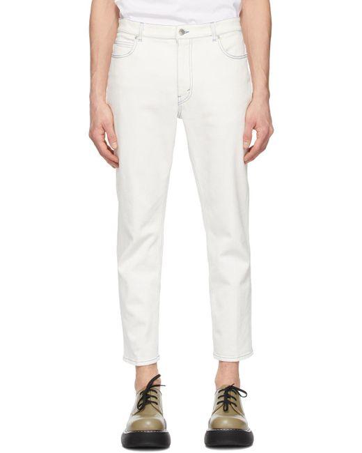 メンズ Stella McCartney Shared コレクション ホワイト Obs 23 Contrast Stitch ジーンズ White