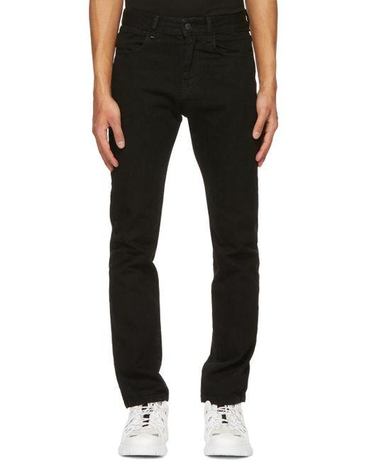 メンズ McQ Alexander McQueen No.0 コレクション ブラック スリムフィット ジーンズ Black