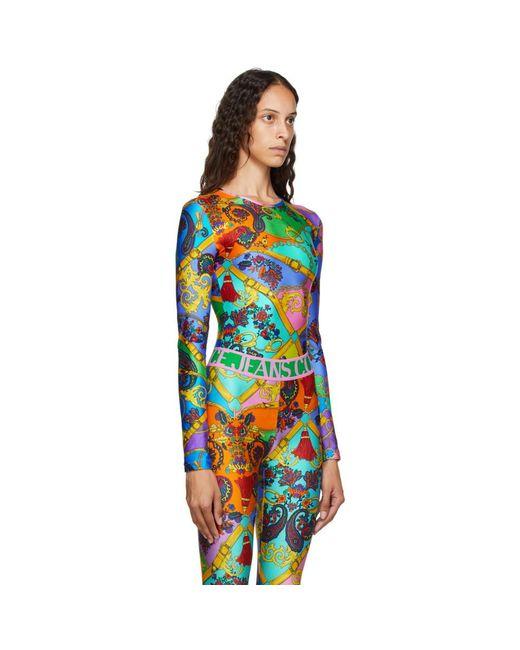 Versace Jeans マルチカラー ベルト プリント ボディスーツ Multicolor