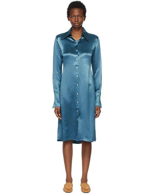 Acne ブルー ロング スリーブ ドレス Blue