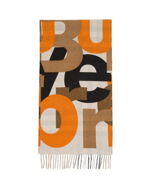 Foulard a logo et carreaux beige Burberry pour homme en coloris Multicolor