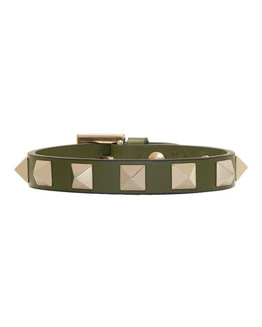 Valentino - Multicolor Khaki Garavani Rockstud Bracelet - Lyst