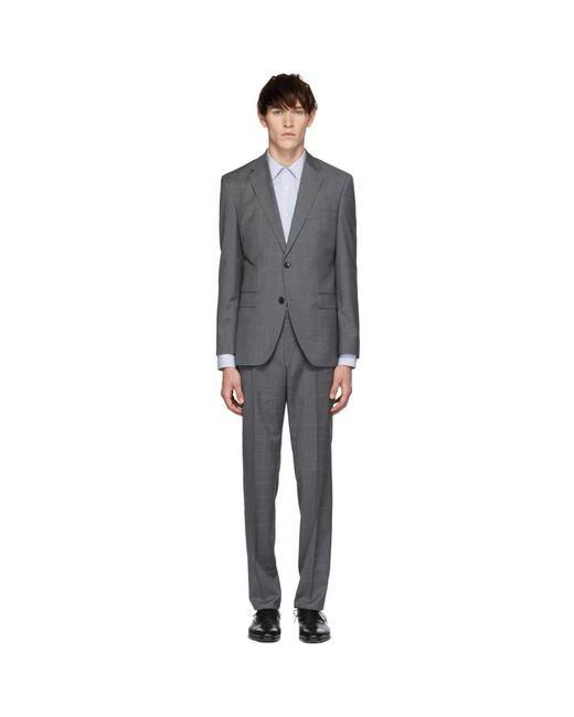 BOSS - Gray Grey Check Johnston 5 Lenon 1 Suit for Men - Lyst