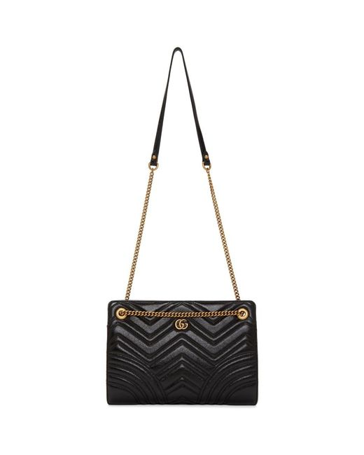 df7fee66f0b5 Lyst - Gucci Black GG Marmont 2.0 Bag in Black