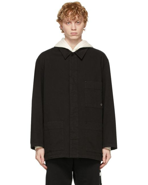 メンズ Etudes Studio ブラック Garment Dyed Excursion ジャケット Black