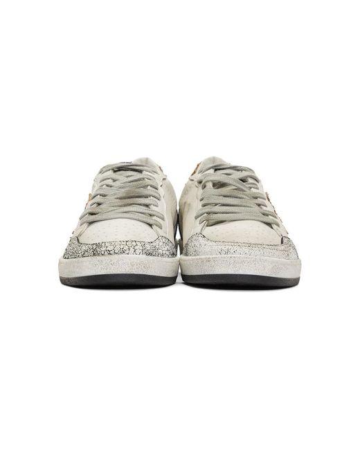 メンズ Golden Goose Deluxe Brand ホワイト And ブラウン スネーク Ball Star スニーカー White