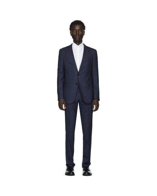 メンズ BOSS ネイビー Novan6/ben2 スーツ Blue