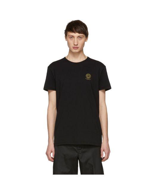 T-shirt a logo noir Versace pour homme en coloris Black
