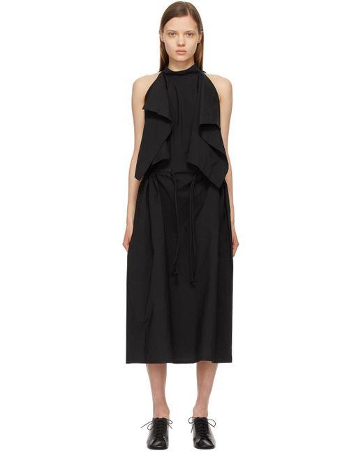 Lemaire ブラック Foulard ノースリーブ ドレス Black