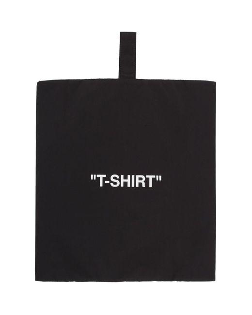 Off-White c/o Virgil Abloh ブラック And ホワイト T-shirt ポーチ Black