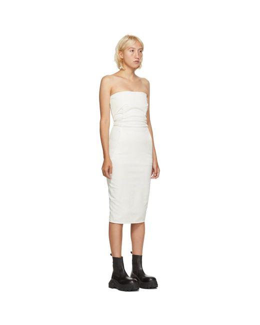 Rick Owens ホワイト ビスチェ ドレス White