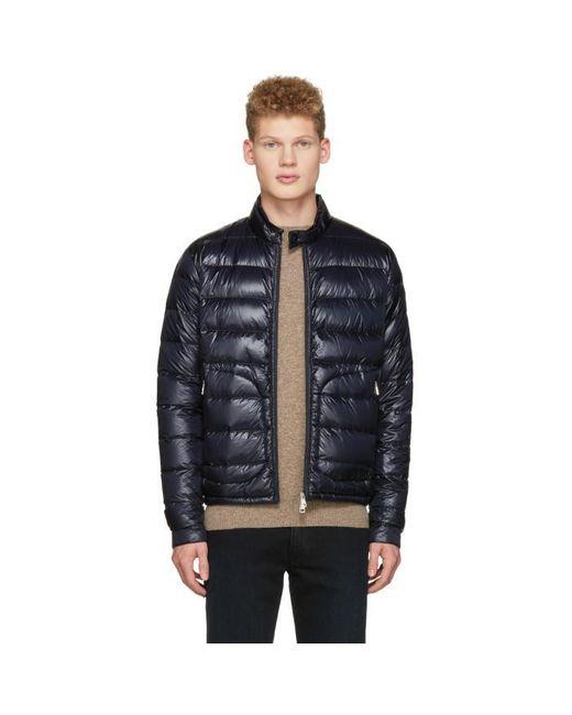 Moncler | Blue Navy Down Acorus Jacket for Men | Lyst