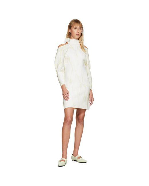 Proenza Schouler オフホワイト ジャカード ニット ショート ドレス White