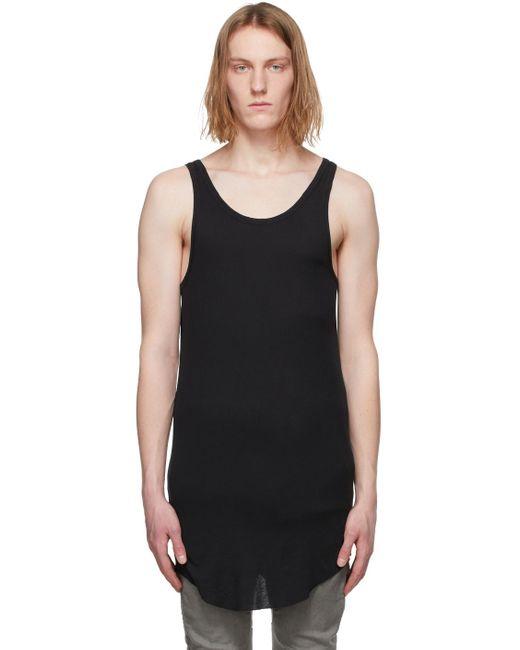 メンズ Boris Bidjan Saberi ブラック Object-dyed タンク トップ Black