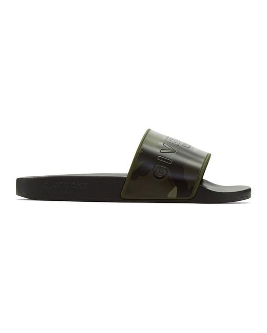 Givenchy - Green Khaki Camo Pool Slides for Men - Lyst