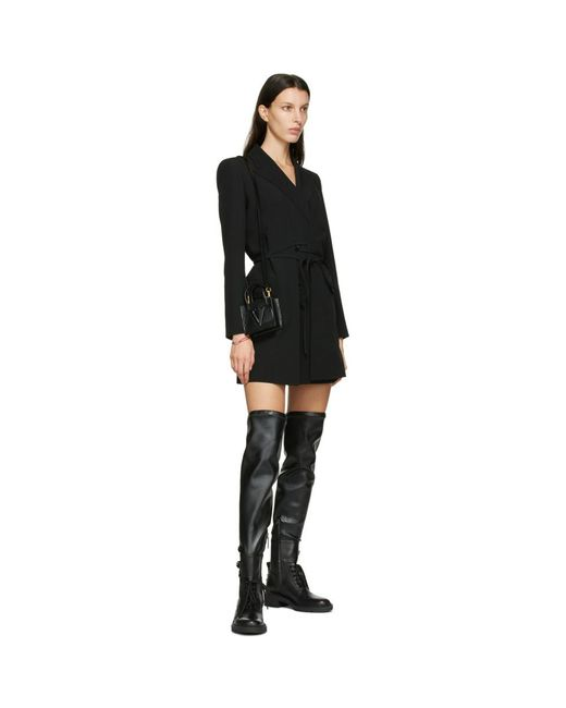 Valentino Garavani コレクション ブラック オーバーニー Rockstud ブーツ Black