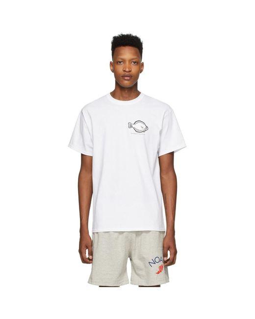 メンズ Noah NYC ホワイト Flounder Shop T シャツ White