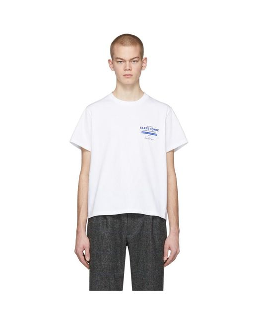 メンズ Second/Layer ホワイト Ebm ロック アップ T シャツ White