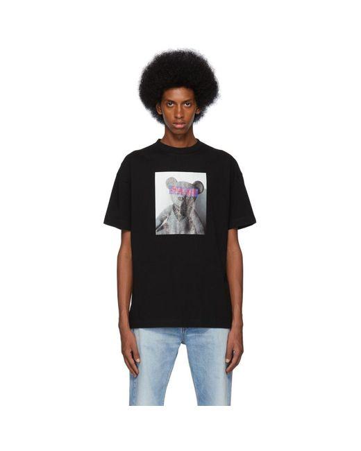 メンズ Palm Angels ブラック Bear T シャツ Black
