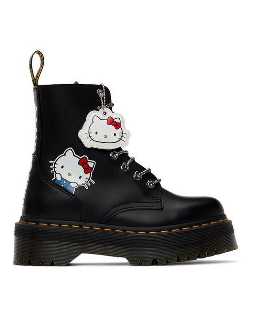 Dr. Martens Hello Kitty Edition ブラック Jadon ブーツ Black