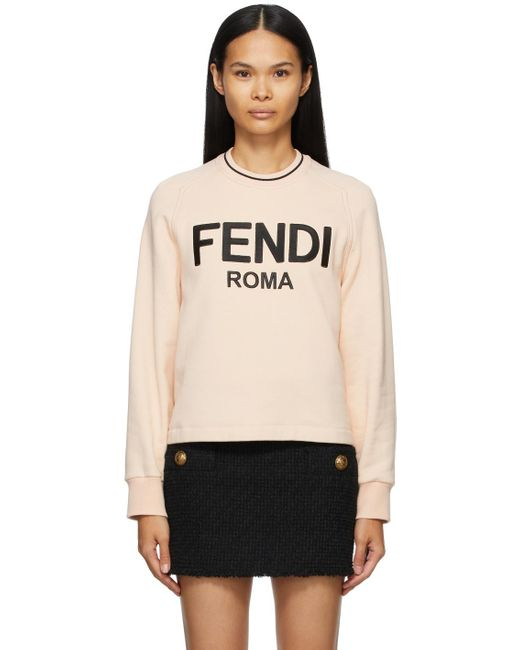 Fendi ピンク ロゴ スウェットシャツ Pink