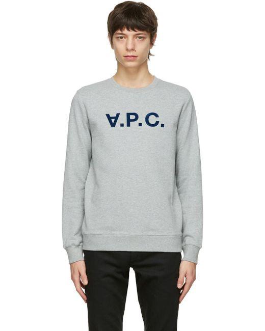 メンズ A.P.C. グレー Vpc スウェットシャツ Gray