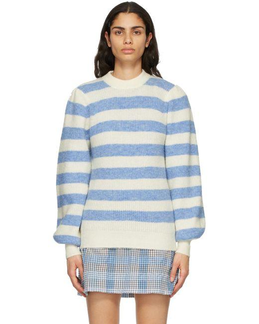 Ganni ホワイト & ブルー セーター Blue